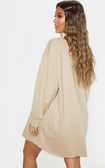 Stone Oversized Jumper Dress