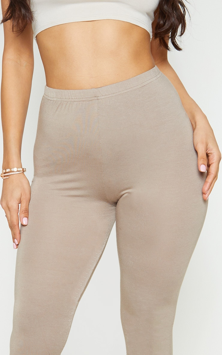 Charcoal Grey and Taupe Basic Jersey Legging 2 Pack 5