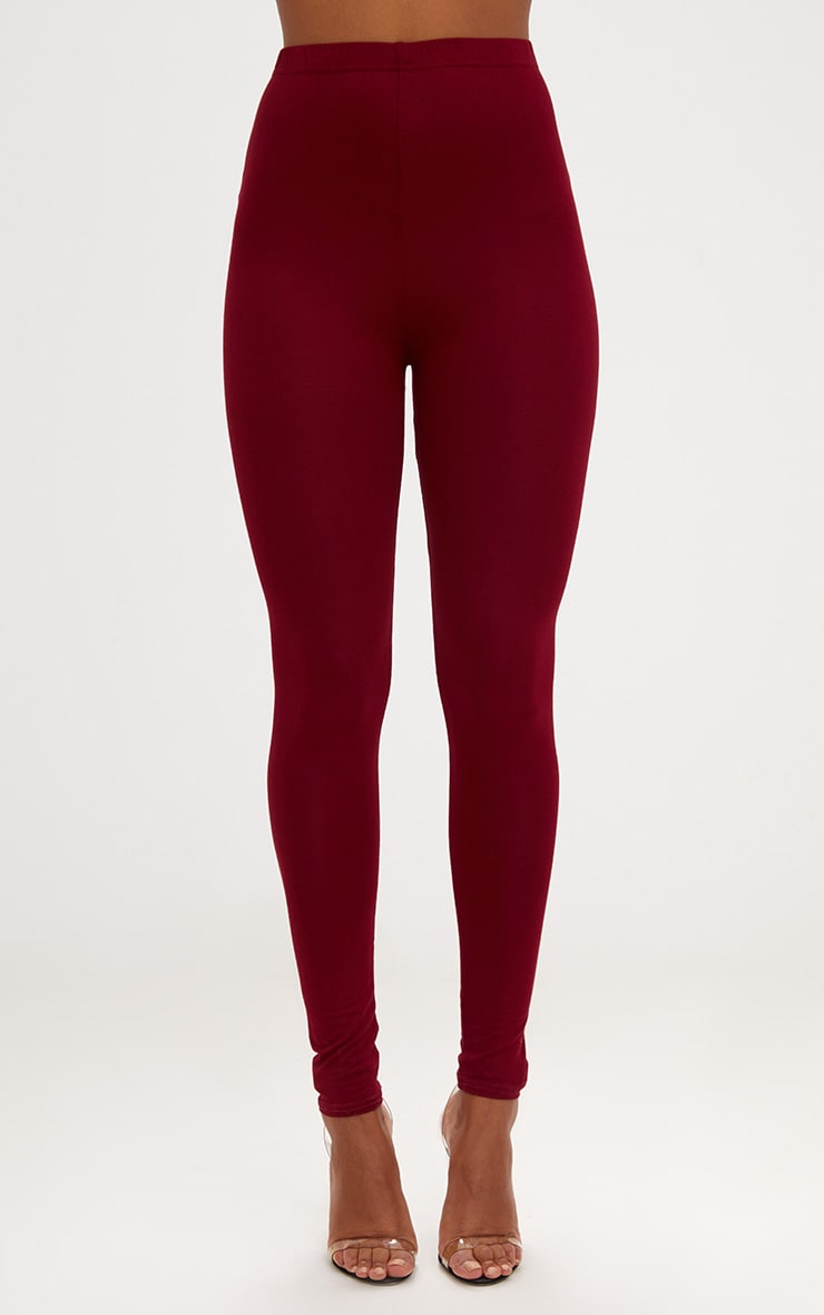 Basic Brown and Burgundy Jersey Leggings 2 Pack 2