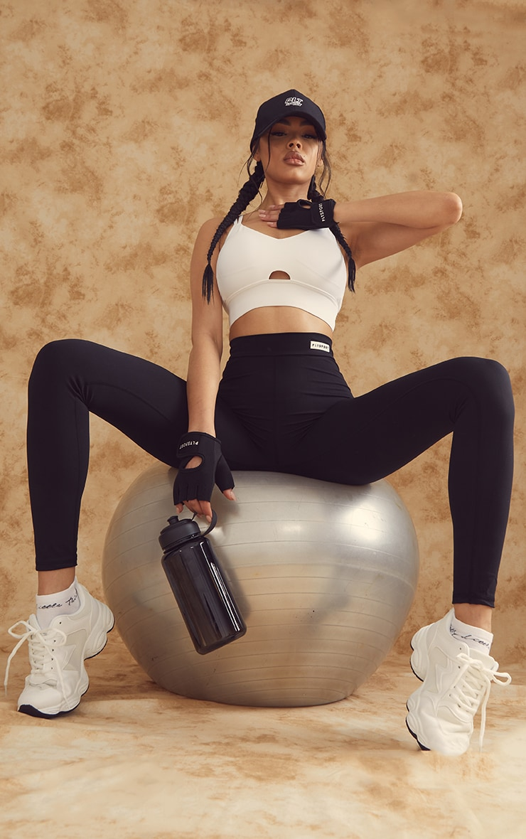 PRETTYLITTLETHING Black Sculpt Luxe Gym Leggings image 1