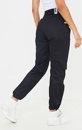 Black Pocket Detail Cargo Trouser 3