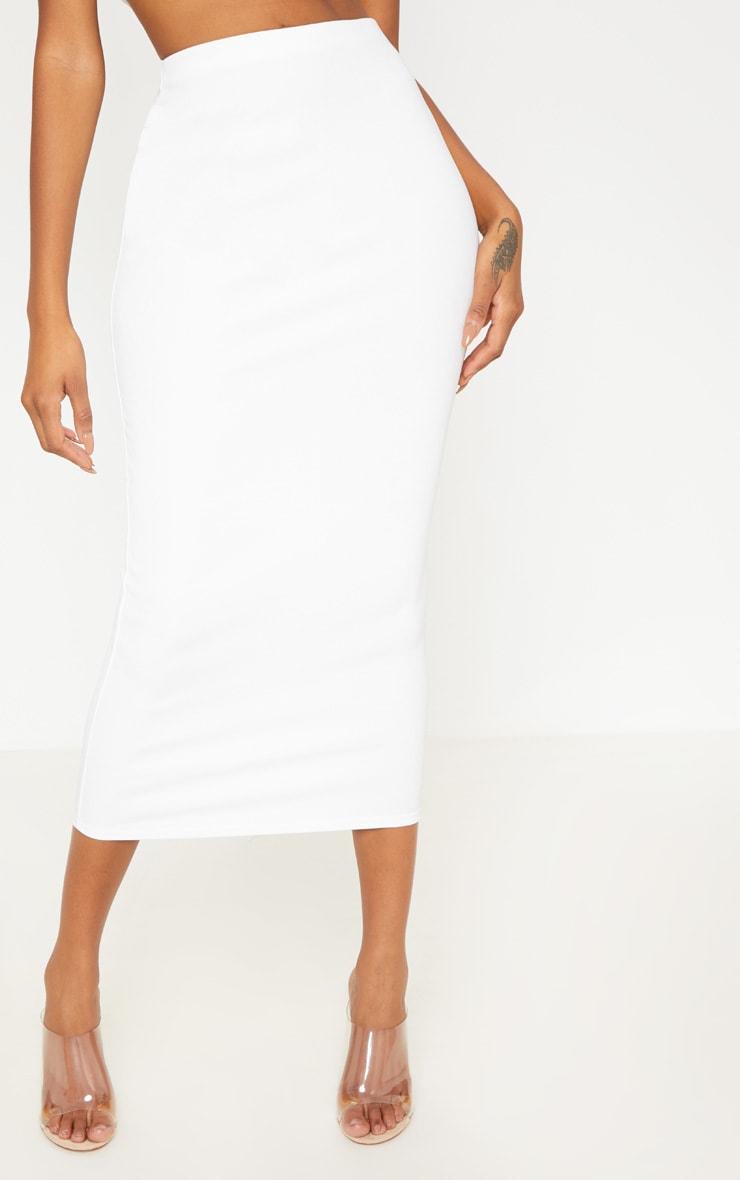 White Rib Midaxi Skirt 2