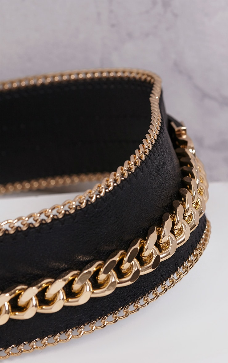 Caliah Black Chain Detail Belt 6