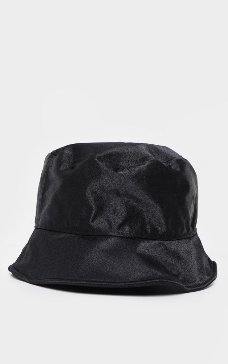 Black Satin Bucket Hat 2