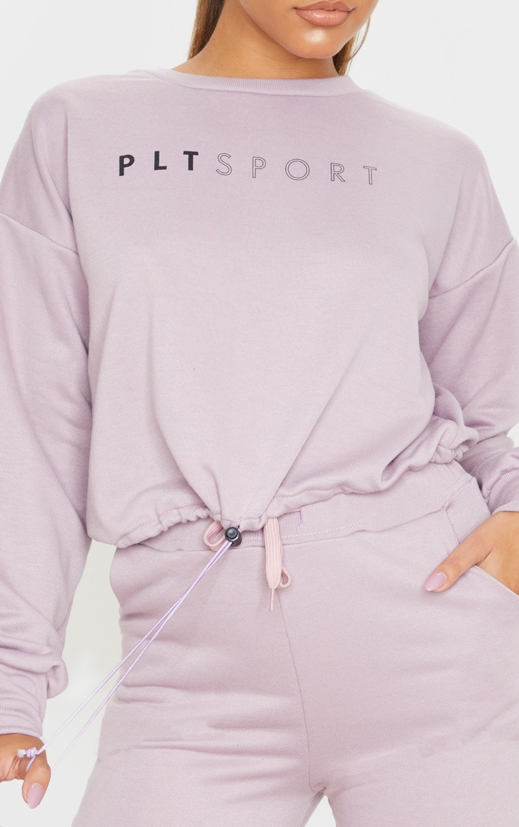 PRETTYLITTLETHING Mauve Basic Gym Sweat Top 5