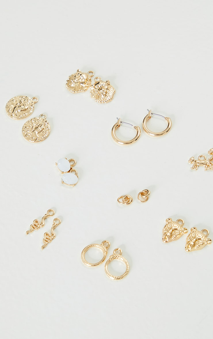 Gold Assorted Mix And Match Hoop Earrings