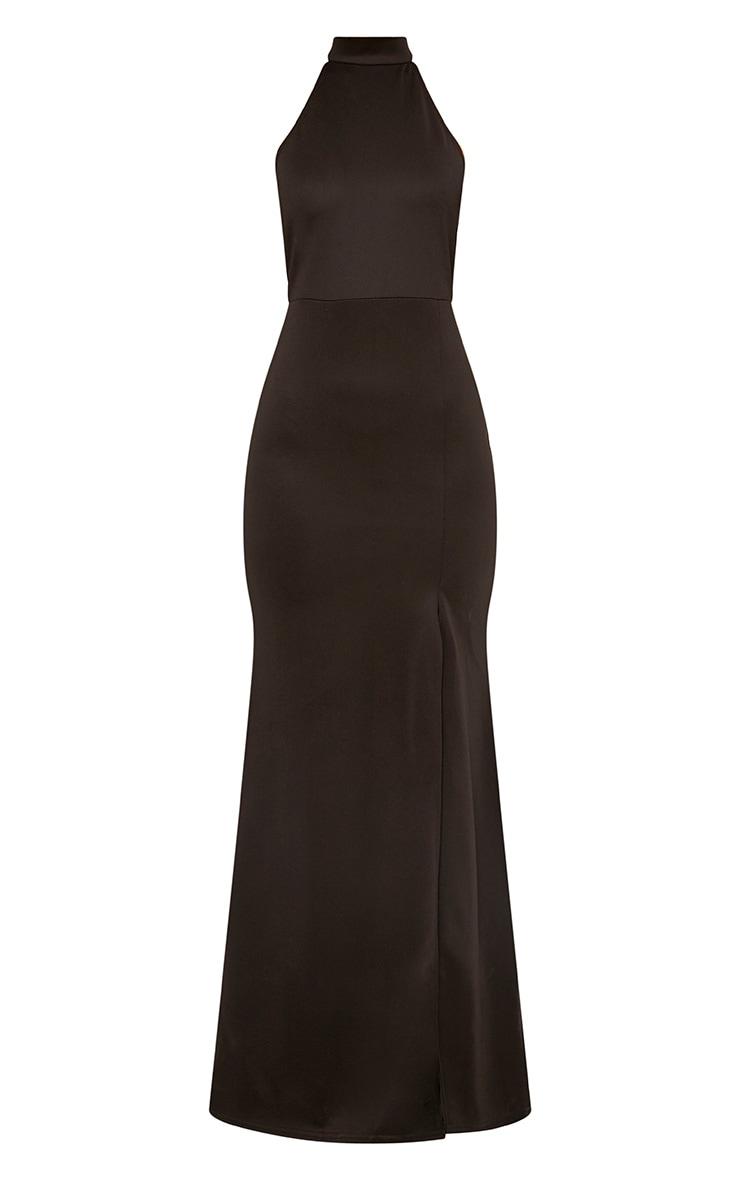 Black High Neck Maxi Dress 3