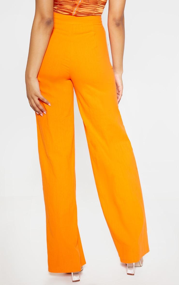 Tall Orange Wide Leg High Waist Pants 4