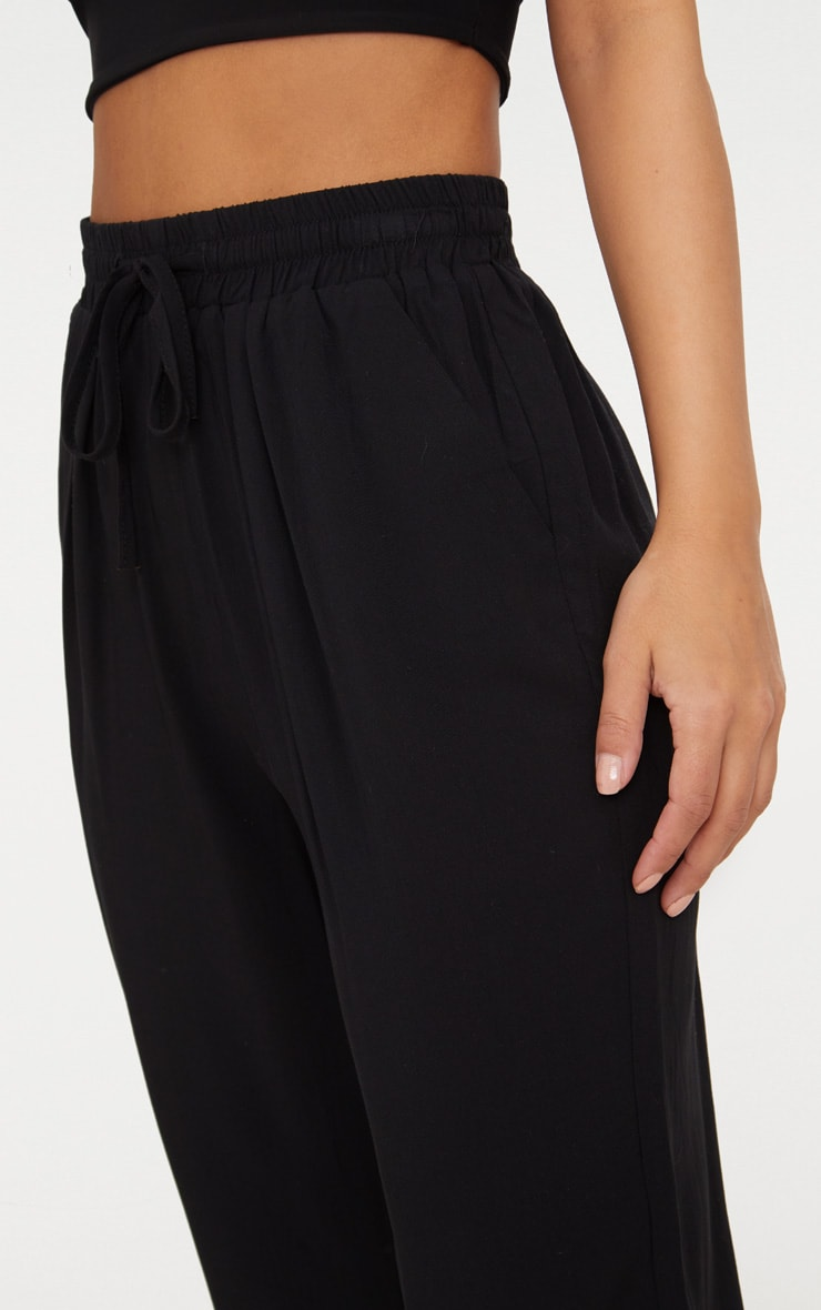 Petite Black Casual Trousers 5