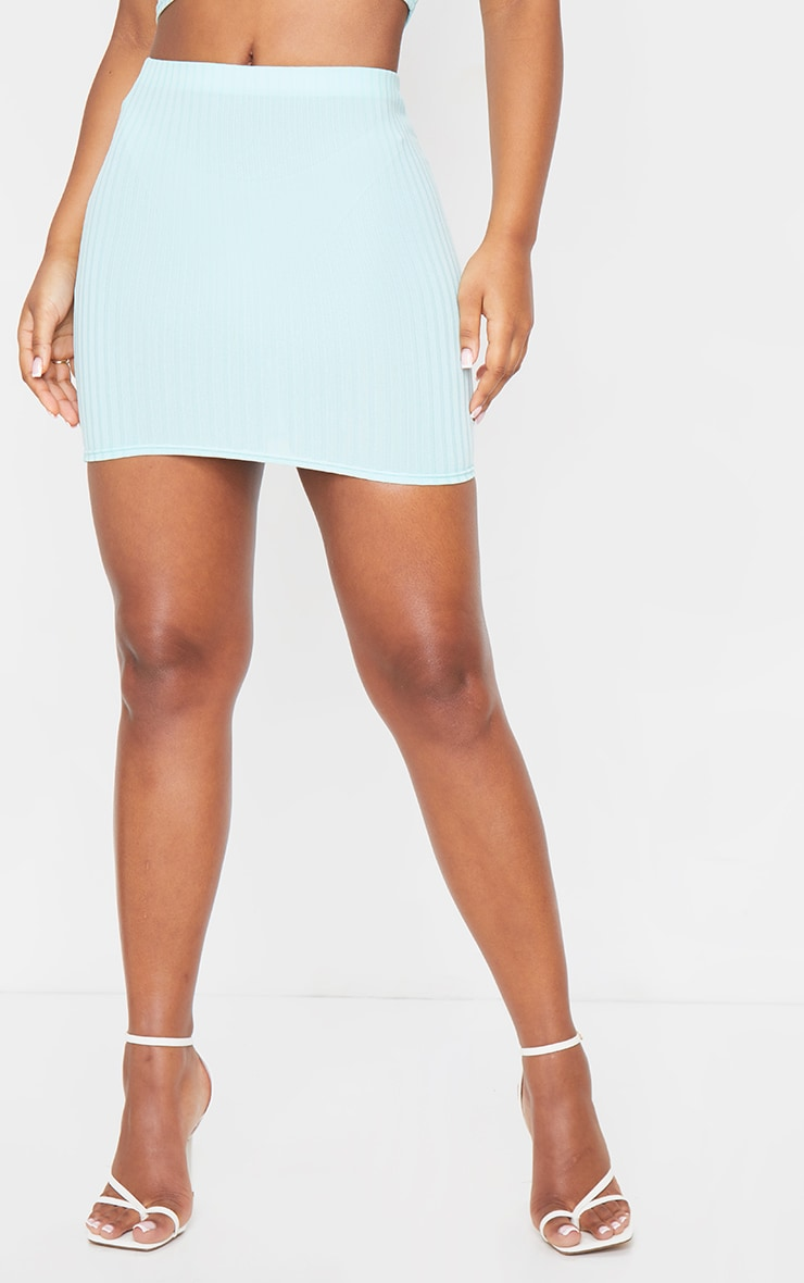 Mint Rib Mini Skirt 2