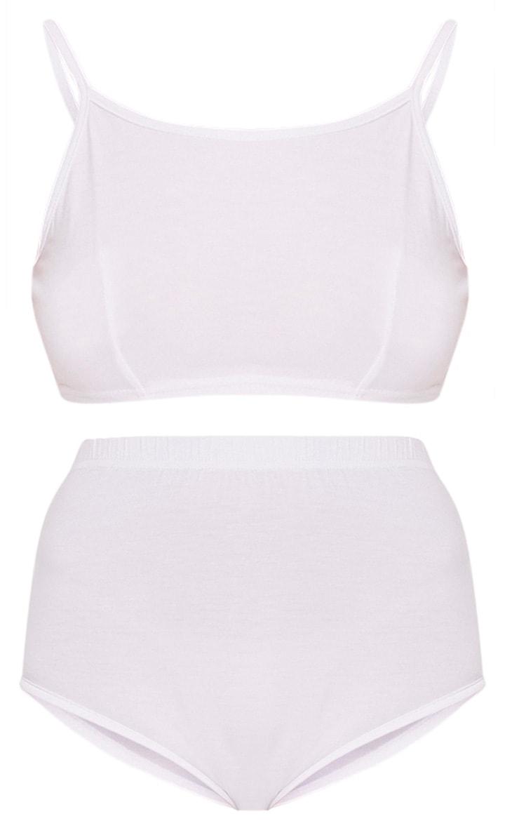 Basic ensemble assorti blanc : brassière et culotte 3