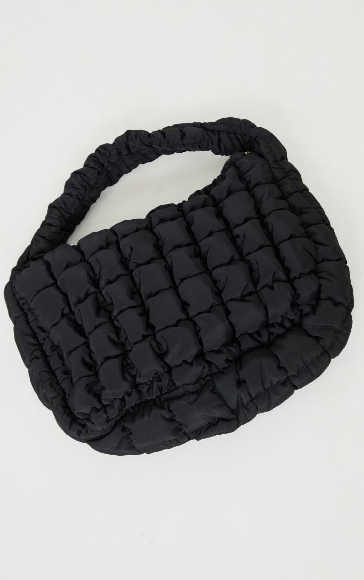 Tote bag oversize matelassé noir chunky 2