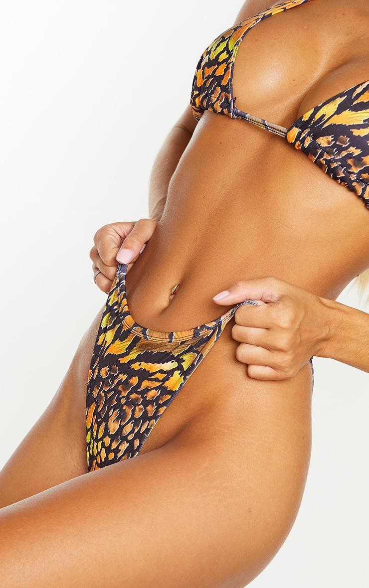 Black Reptile Tanga Bikini Bottoms 4