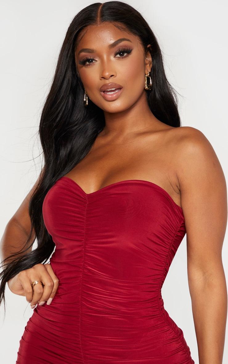 Shape Scarlet Bandeau Ruched Midaxi Dress 5
