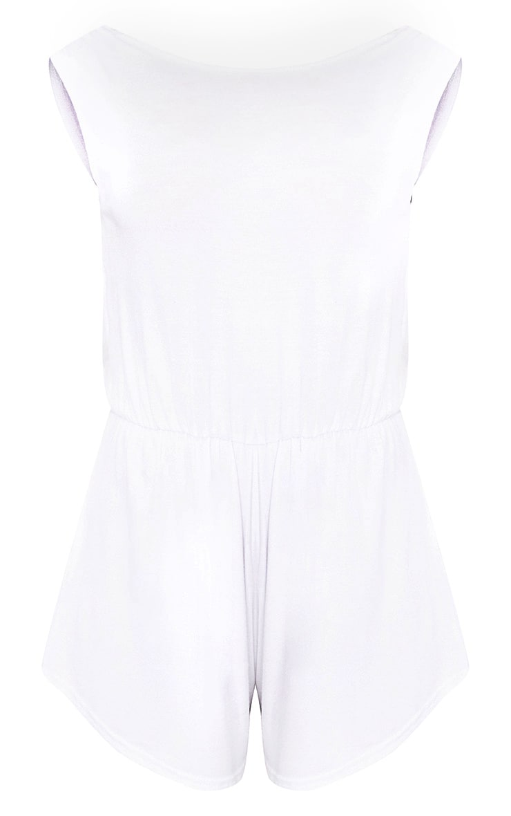 Braylee Basic White Playsuit 3