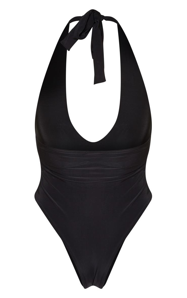 Black Slinky Halterneck Bodysuit 4