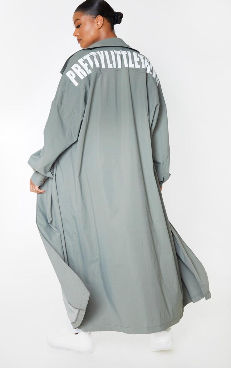 PRETTYLITTLETHING Plus Khaki Trench Coat 1