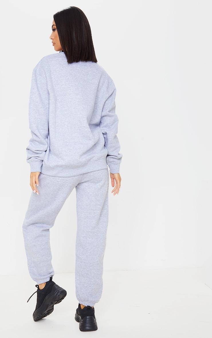 PRETTYLITTLETHING Grey Season 1 Slogan Sweater 2
