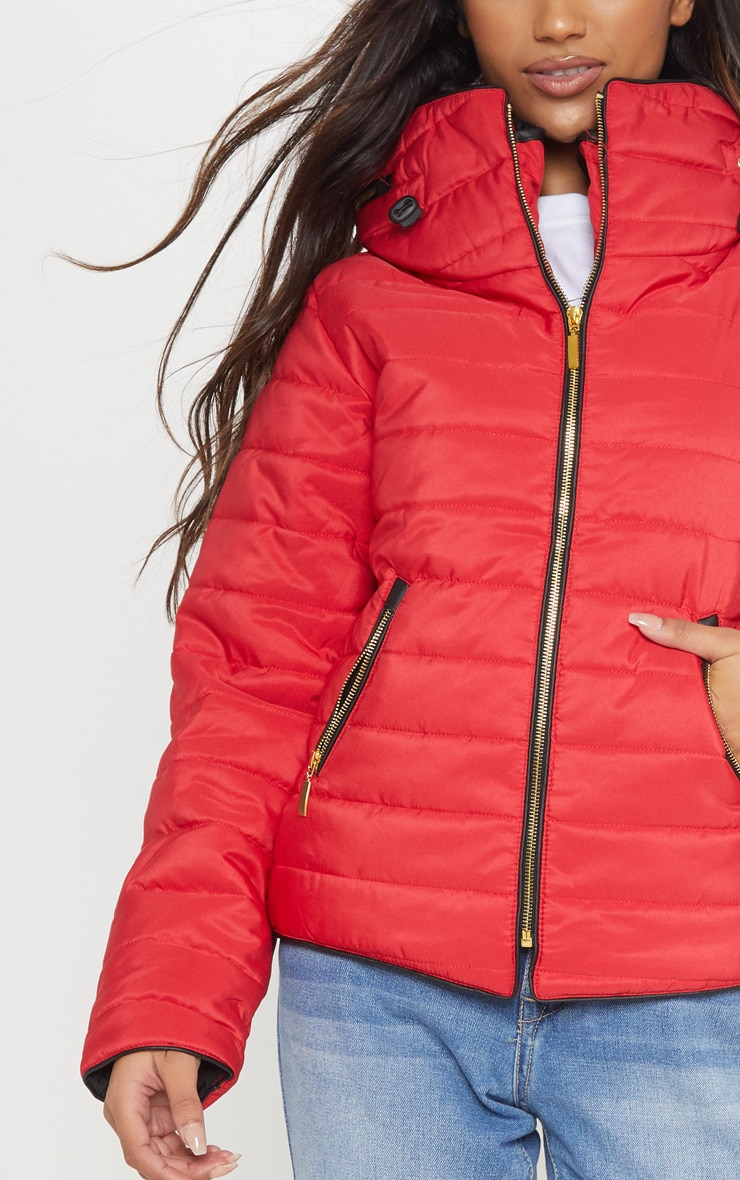 Mara Red Puffer Jacket 5