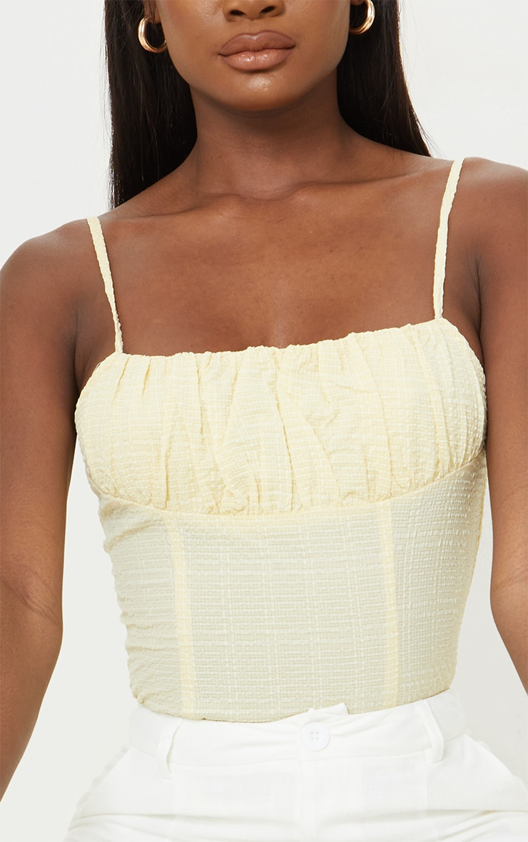 Tall Stone Ruched Strappy Bodysuit 4