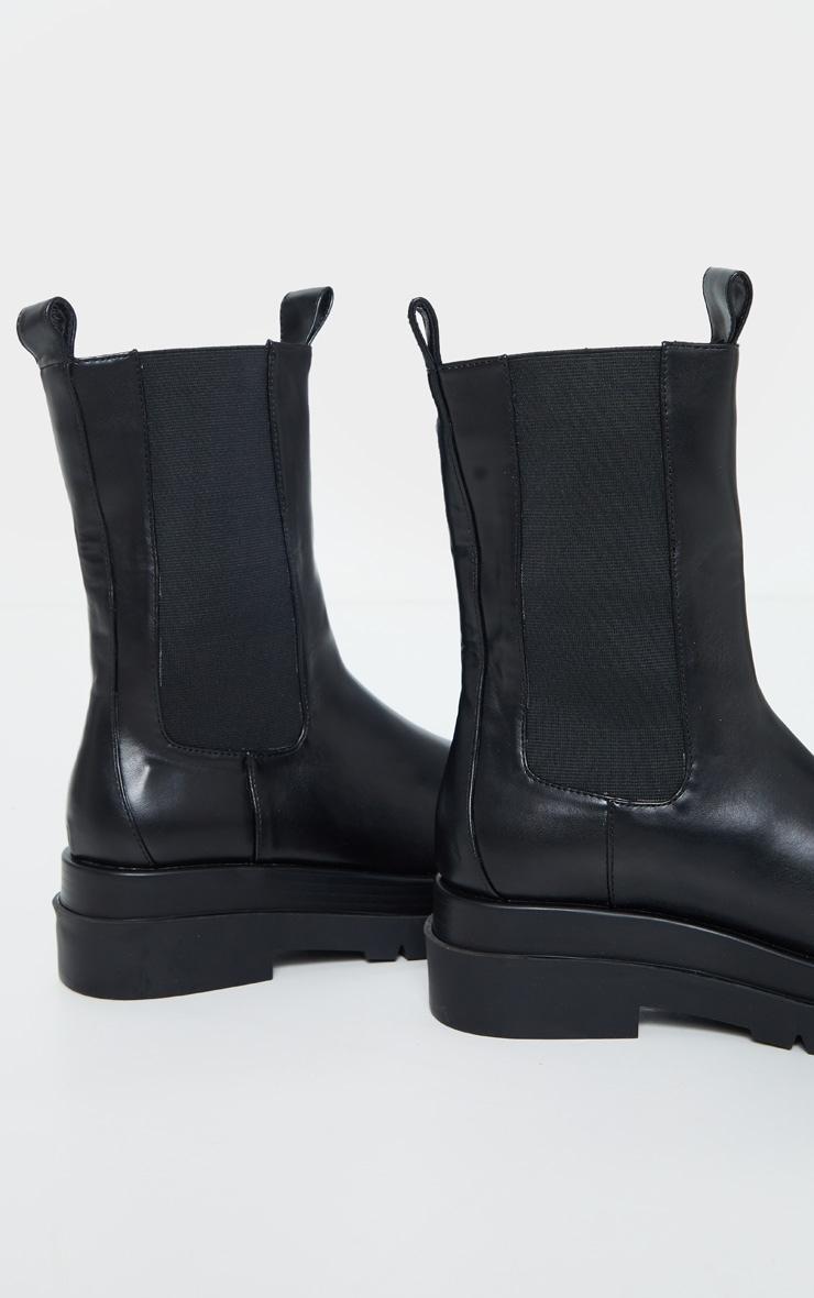 Black Calf High Chunky Chelsea Boot 4