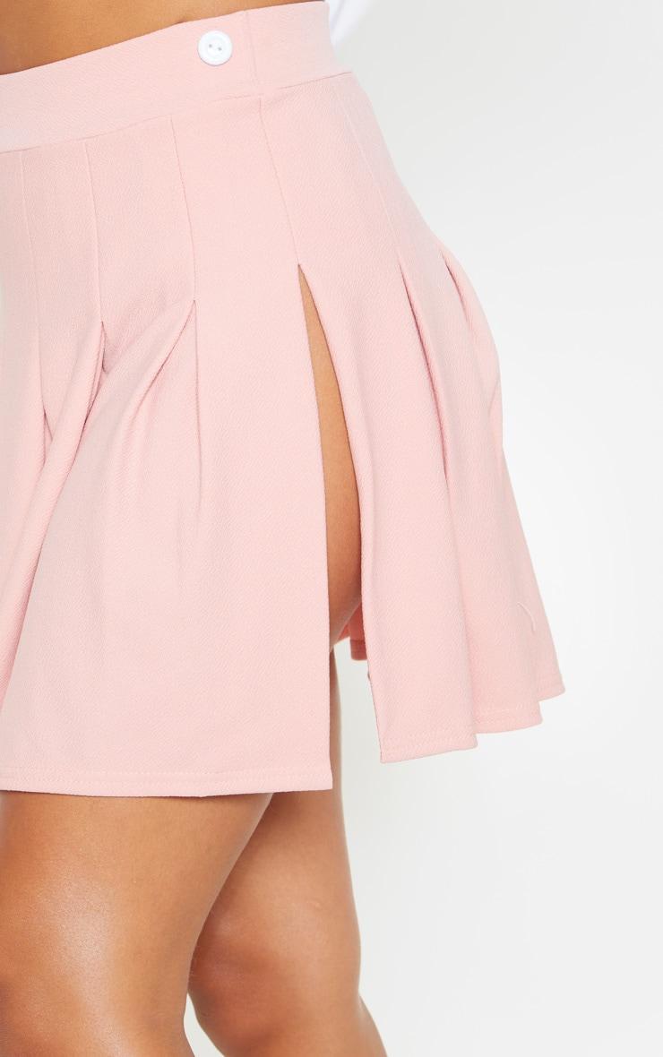 Dusty Pink Pleated Side Split Tennis Skirt 6