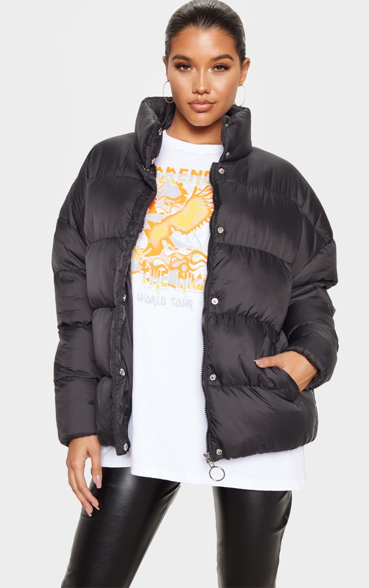 Black Oversized Boyfriend Puffer 4