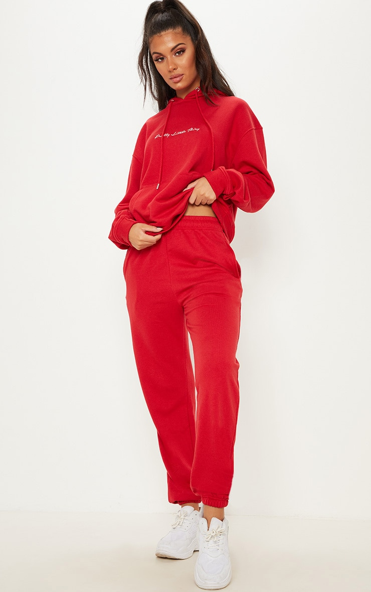 Red Casual Jogger 1