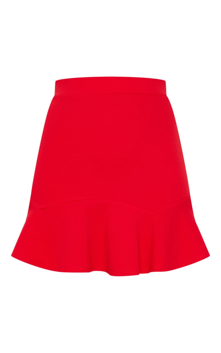 Verity Red Flippy Hem Mini Skirt 6