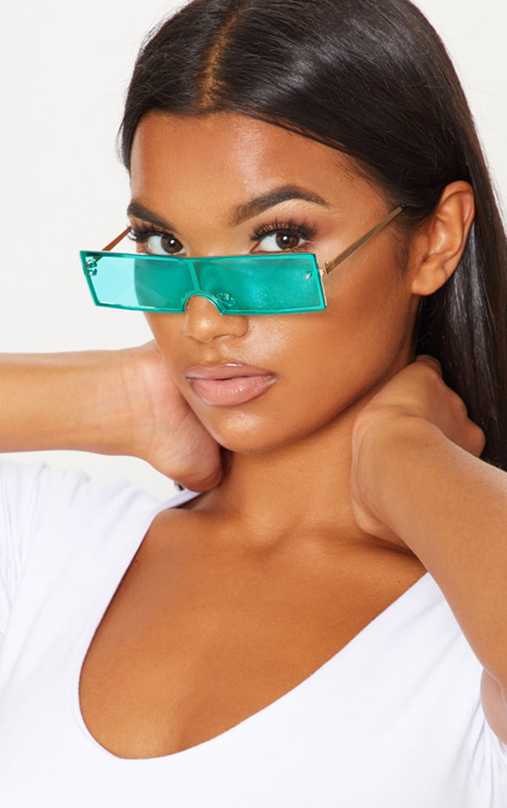 Blue Rectangular Sunglasses