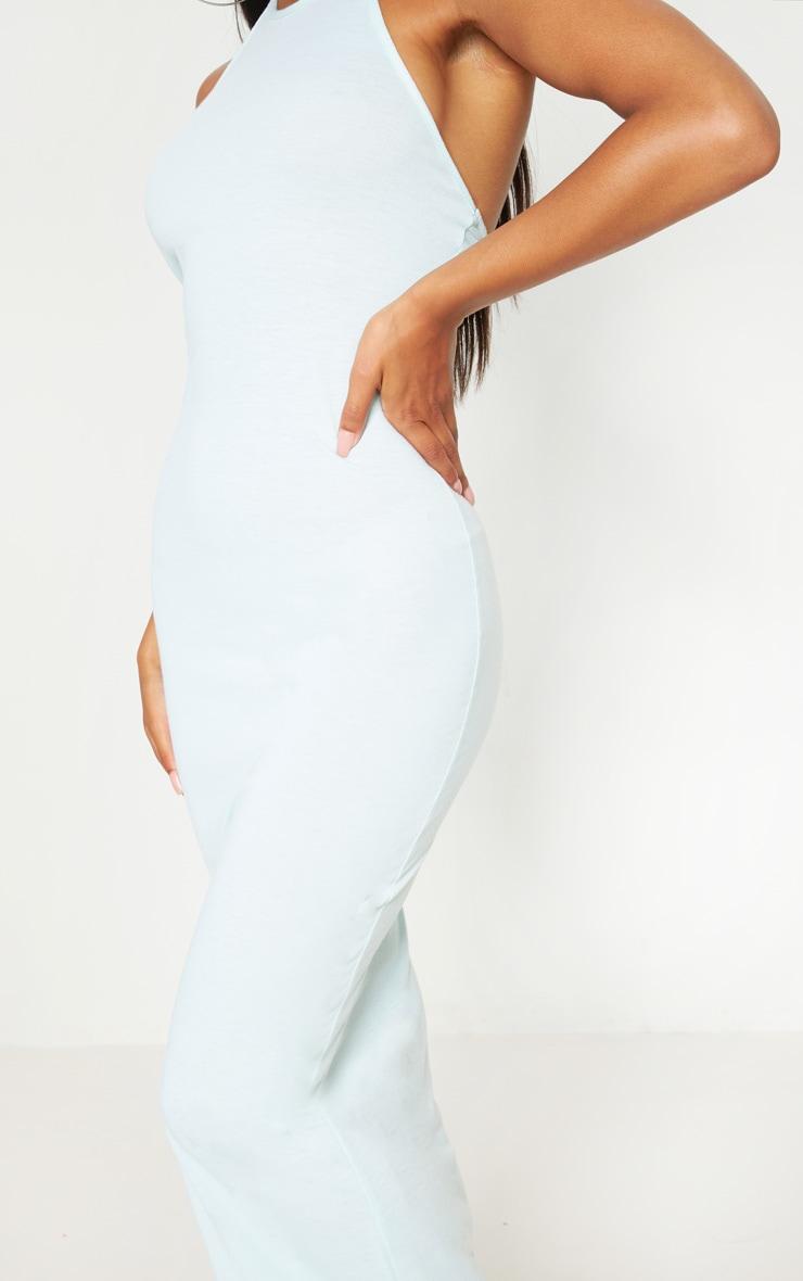 Basic Mint Halterneck Maxi Dress 5