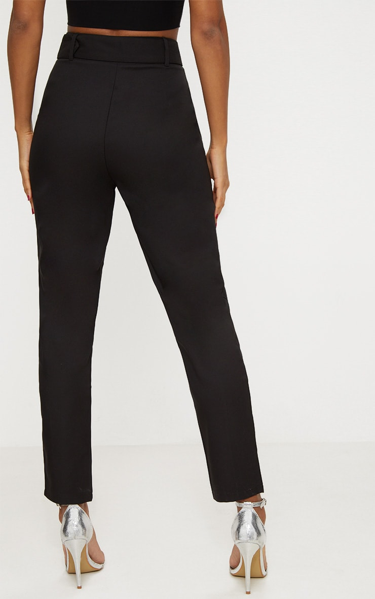 Black Belted Tailored Trousers 4