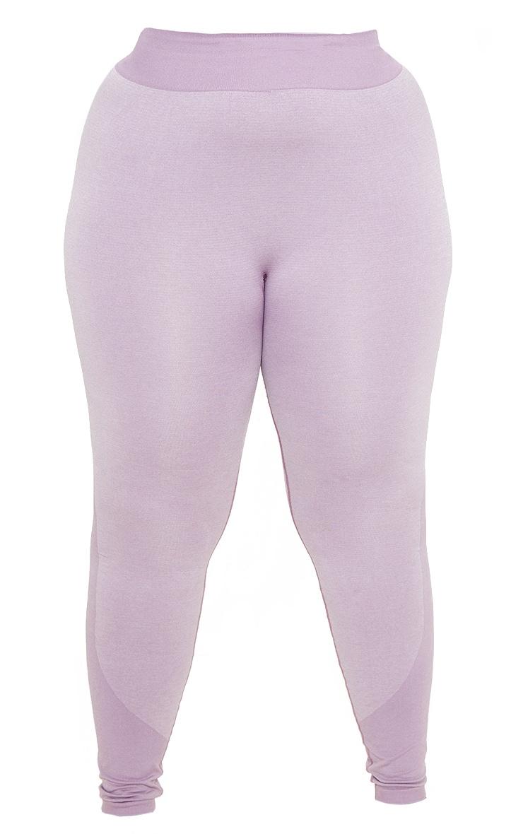 Plus Lilac Seamless Stripe Detail Legging  3