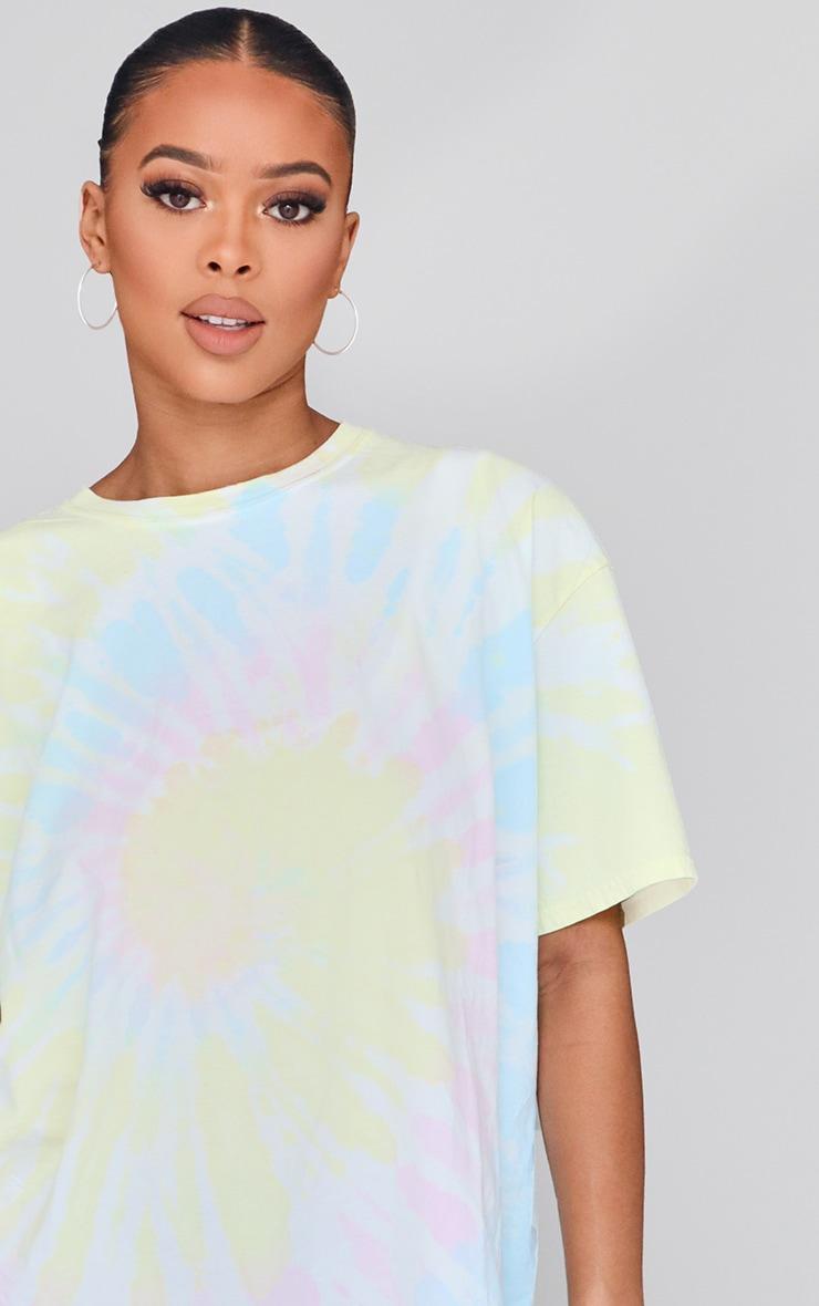Multicolour Tie Dye Oversized T Shirt 4
