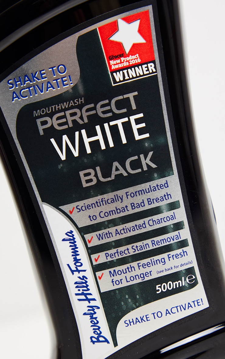 Beverly Hills Formula Perfect White Black Mouthwash 500ml 3