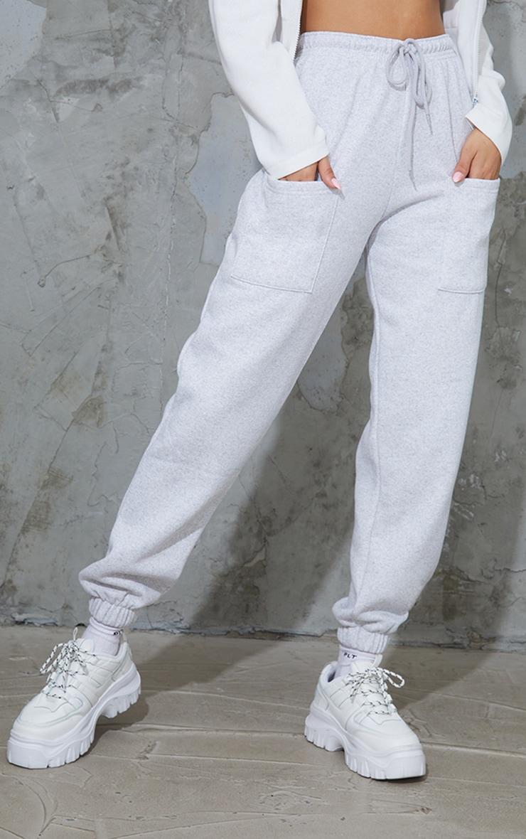 Ash Grey Pocket Casual Joggers 2