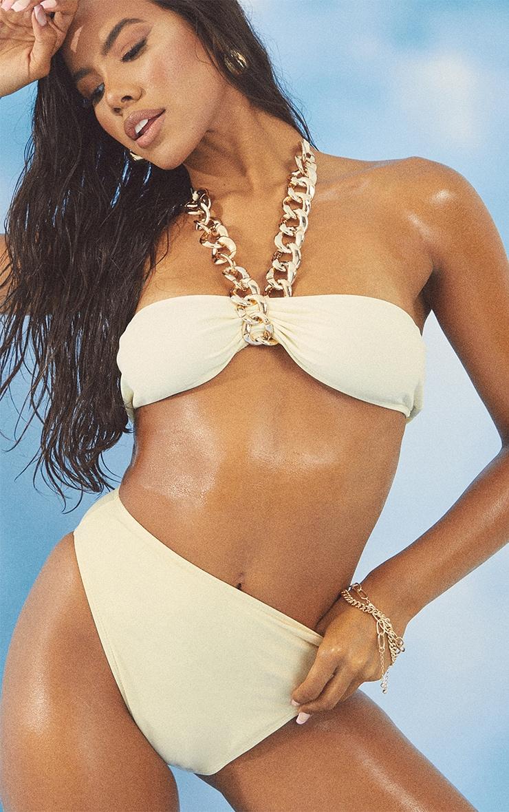 Cream Chunky Chain Bikini Top 4