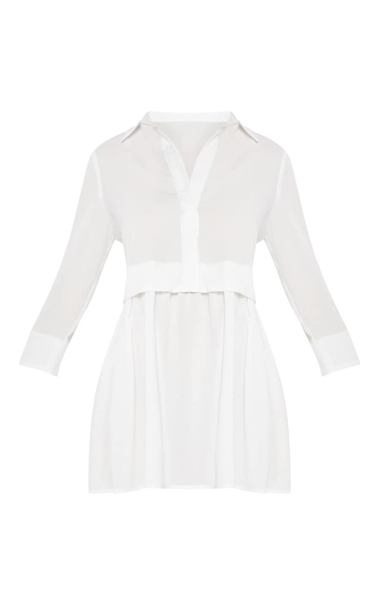 White Layer Shirt Dress 3