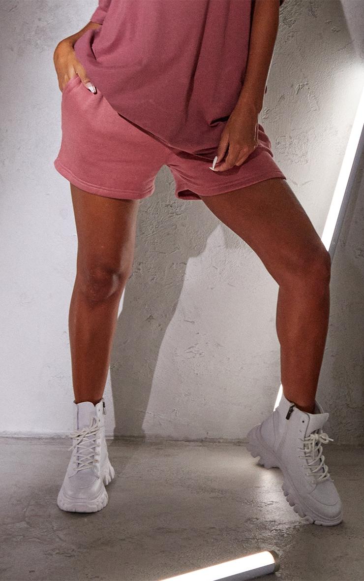 RENEW Washed Red Sweat Pocket Shorts 2