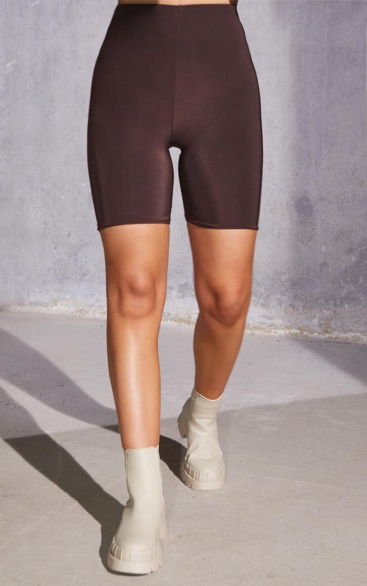 Dark Brown Slinky Bike Shorts 2