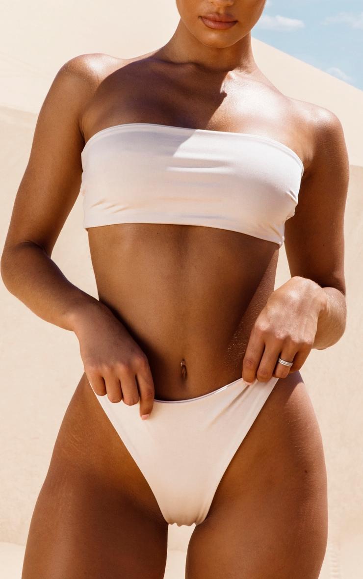 Nude High Rise Bikini Bottom 6
