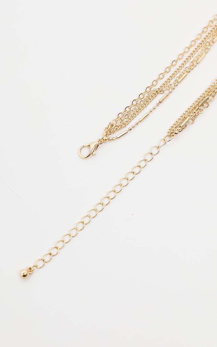 Gold Multi Large Black Gemstone Pendant Necklace   4