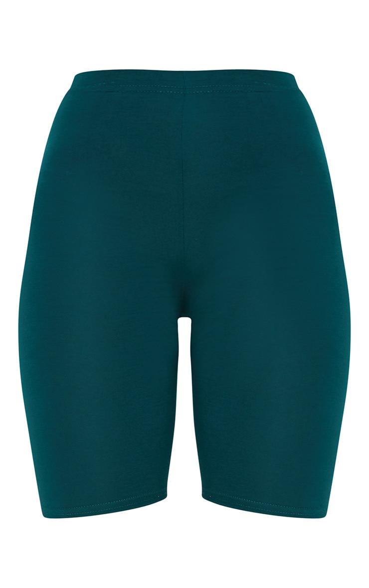 Emerald Green Basic Cycle Shorts 3
