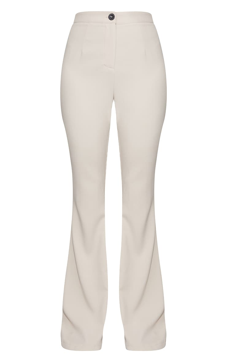 Stone Woven Flared Trousers 5