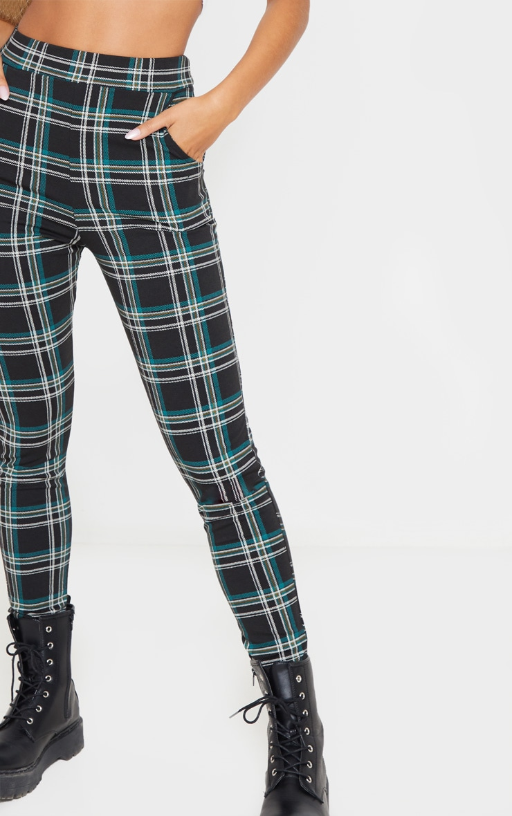 Black Checked Skinny Trousers 5