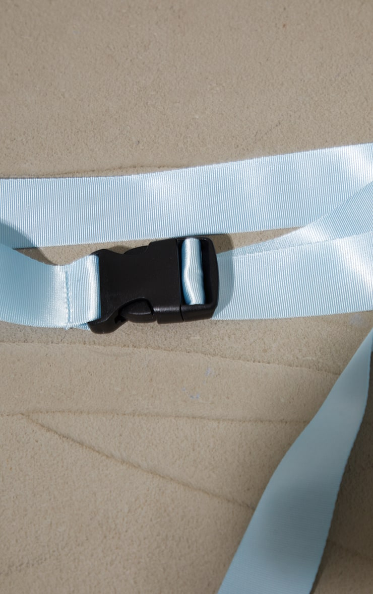 Baby Blue Slider Buckle Tape Belt 3