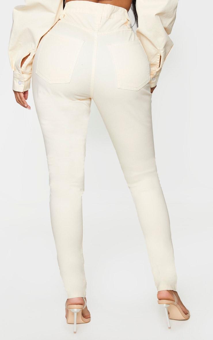 Shape Ecru High Waisted Skinny Jeans 3