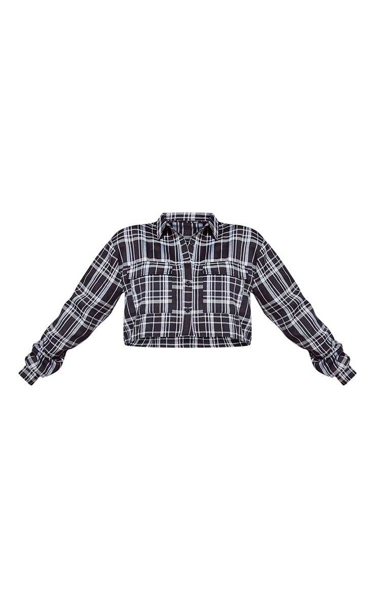 Monochrome Check Crop Shirt 4