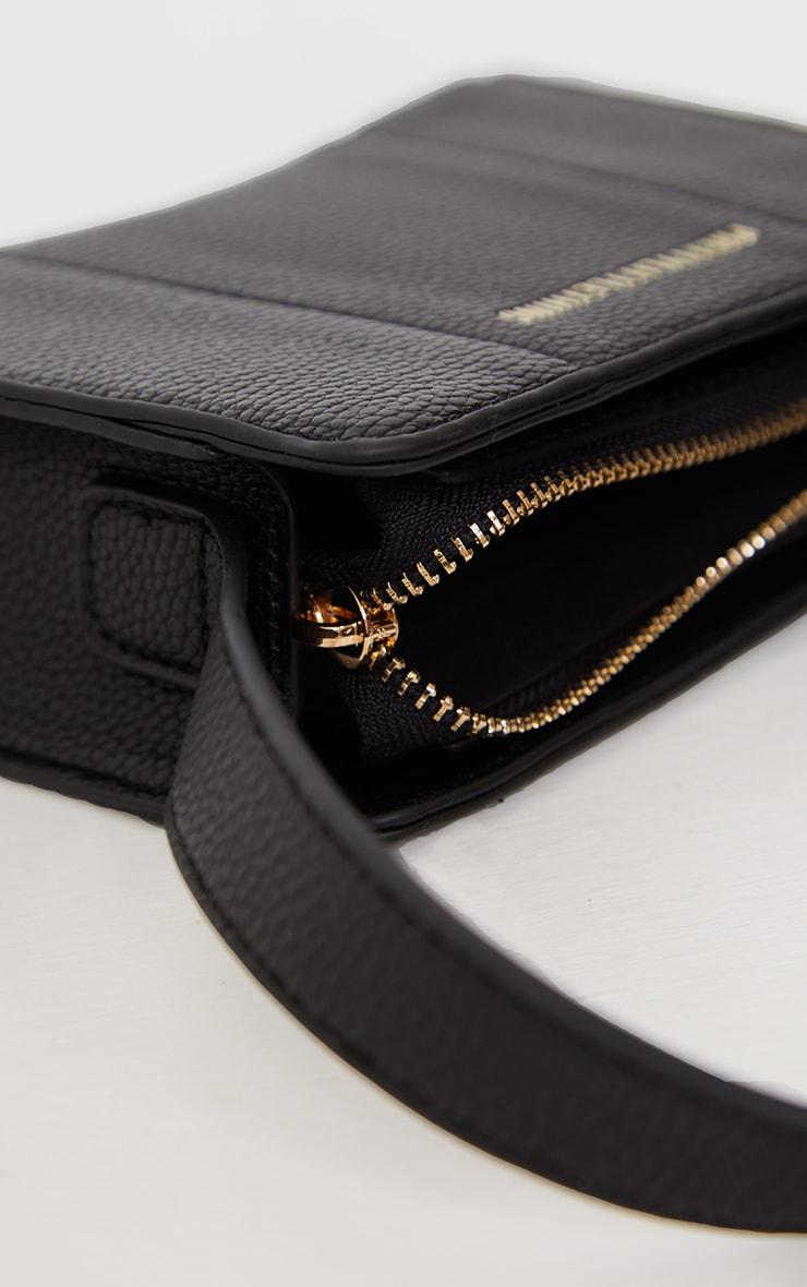 PRETTYLITTLETHING Black Triangular Shoulder Bag 4