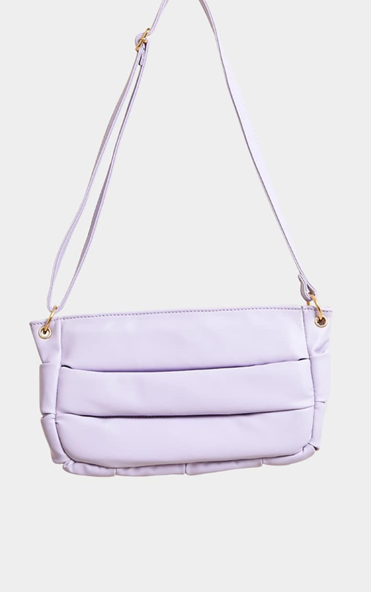 Lilac Padded Shoulder Bag 1